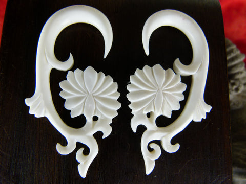 White Lotus Hangers for Stretched Ears