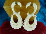 Curved Feather Stretch Ear Hangers (Pair) - C039