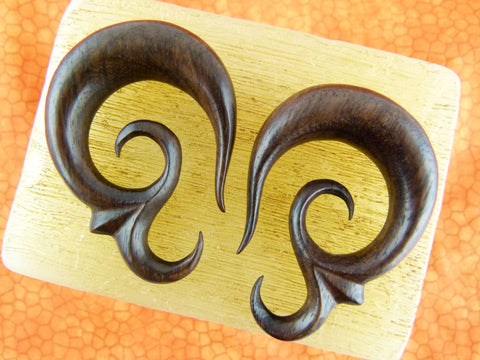 Wood Stretched Ear Hangers