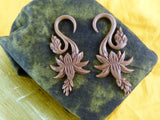 Growing Flower Organic Wood Stretch Earring (Pair) - A025
