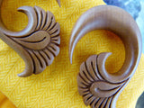 Stretch Plug Hangers - Carved Wood Ear Stretcher (Pair) - A039