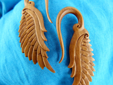 Dragon Wings Stretched Hanging Gauges (Pair) - A042