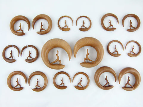 Yoga Warrior Plugs Wood