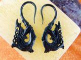 Black Horn Stretching Earrings (Pair) - B031