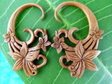 Triple Sacred Flower Stretcher Plug Earrings (Pair) - A046