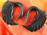 Swan Stretch Ear Hangers (Pair) - D008