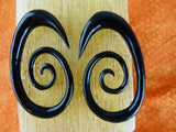 Super Spiral Hanger Earrings Horn - Spirals (Pair) - B009