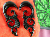 Black Horn Hangers for Stretched Ears