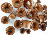 Blooming Flower Tunnel Plugs - Carved Ear Tunnel (Pair) - PA15