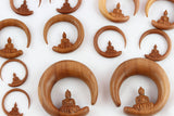 Wood Buddha Stretch Earring Hanger