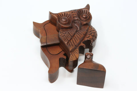 Owl Wooden Puzzle Box - Plug Gift Box
