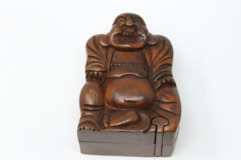 Happy Buddha Wooden Puzzle Box - Plug Gift Box