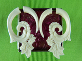 White Blooming Lotus Hangers (Pair) - C038