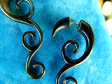 Hand Carved Stretching Hanger Earrings (Pair) - B011