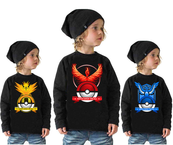 Pokemon long sleeve shirts  2-10 Year