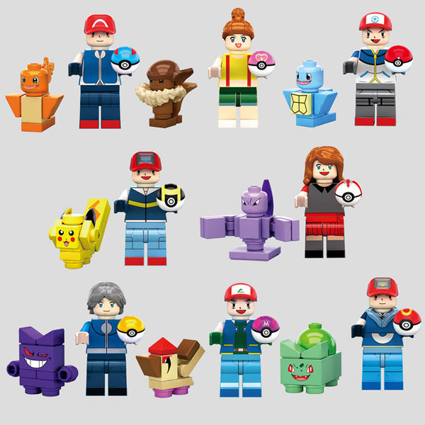 Pokemon Go Mini-figures Building Block Toys Compatible with Lego