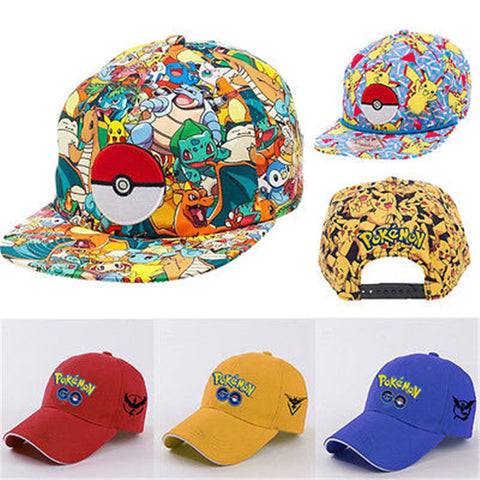 Newest Pokemon Go Cap Hat Teams Valor, Mystic, Instinct