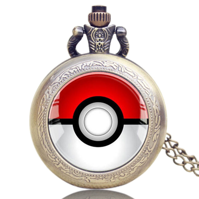 Pokemon Go Vintage Bronze Pendant Chain, Pocket Watch