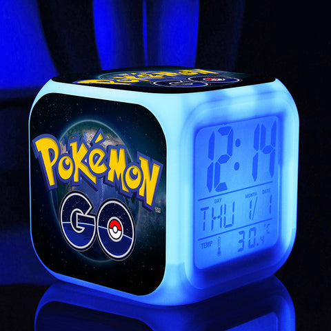 Digital Pokemon alarm clocks touch light