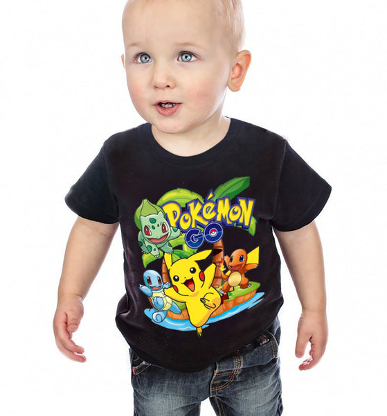 2Y-10Y Boys Girls Pokemon Go T Shirt  Kids Cotton