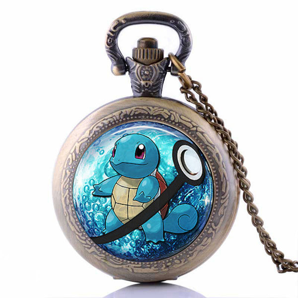 Pokemon Go Squirtle Pocket Watch Necklace