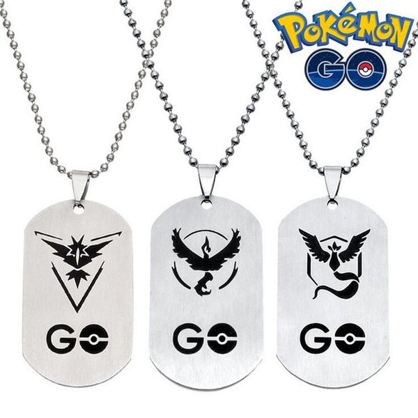 Pokemon Go Team Valor, Mystic, Instinct key chain necklace
