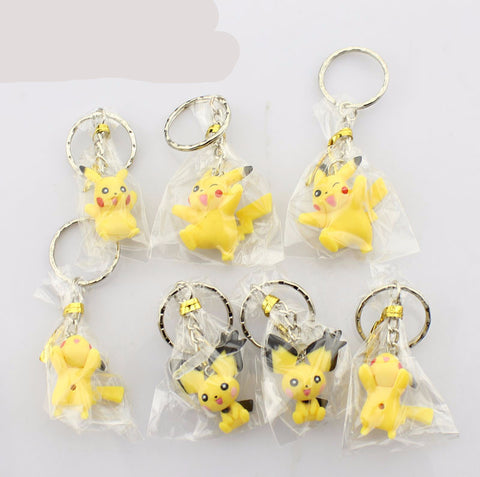 Keychain 7pcs Pokemon Cartoon