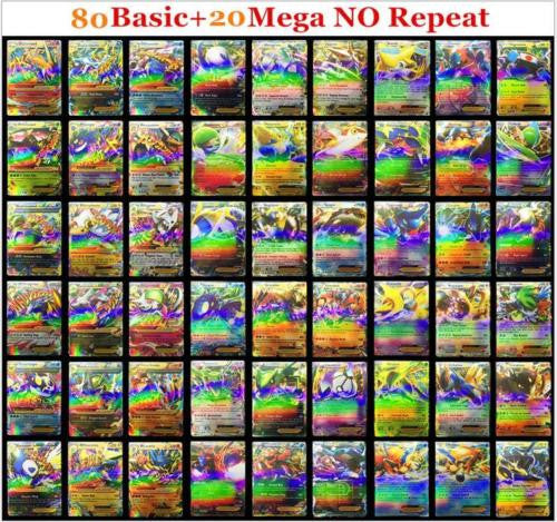 100 Pokemon TCG  CARDS RARE, HOLO  GUARANTEED