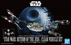 1/144 & 1/350 & 1/270000 Star Wars: Return of The Jedi Clear Vehicle Set