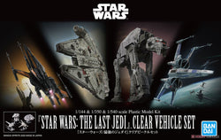 1/144 & 1/350 &1/540 Star Wars: The Last Jedi Clear Vehicle Set