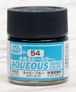Aqueous Hobby Color - H54 Semi-Gloss Navy Blue (US Navy Aircraft)