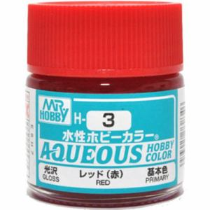 Aqueous Hobby Color - H3 Gloss Red (Primary)