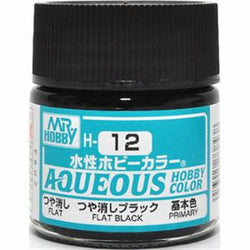 Aqueous Hobby Color - H12 Flat Black (Primary)
