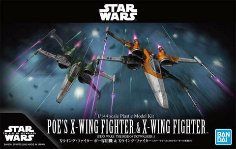 Bandai Star Wars 1/144 Scale - Poe's X-Wing Fighter & X-Wing Fighter (The Rise of Skywalker)