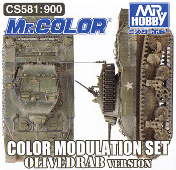 Mr. Color - Color Modulation Set Olivedrab (CS581)
