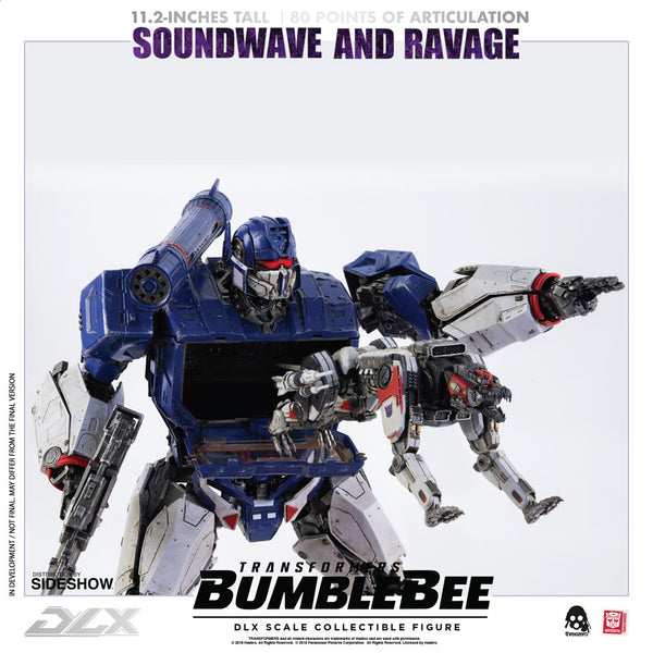 Soundwave & Ravage DLX Scale Collectible Figure - Transformers: Bumblebee (ThreeA)