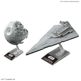 Bandai Star Wars 1/2,700,000 Scale Death Star II & 1/14,500 Scale Star Destroyer