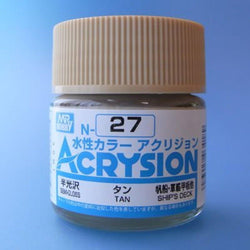 Mr. Hobby Acrysion N27 - Tan (Gloss/Primary) Bottle Paint