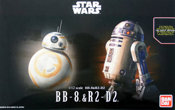 Bandai Star Wars 1/12 Scale - BB-8 & R2-D2