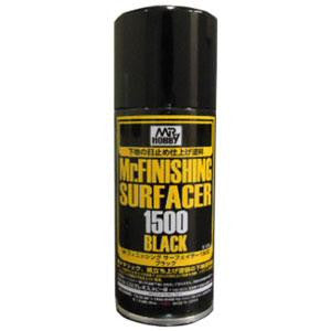 Mr. Finishing Surfacer 1500 Black 170ml Spray Mr. Hobby
