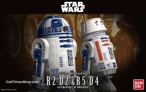 Bandai Star Wars 1/12 Scale - R2-D2 & R5-D4