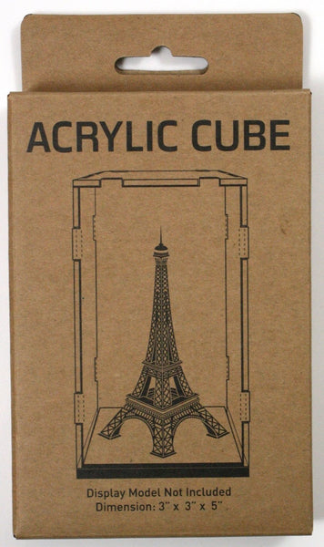 "Acrylic Display Cube 3""x 3""x 5"""