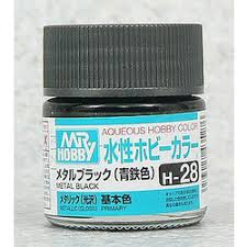 Aqueous Hobby Color - H28 Metallic Gloss Metal Black (Primary)
