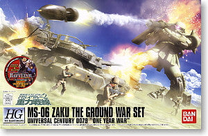 HGUC 1/144 MS-06 Zaku The Ground War Set 1/144 HGUC Hardgraph