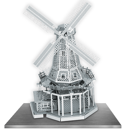 Windmill 3D Laser Cut Model