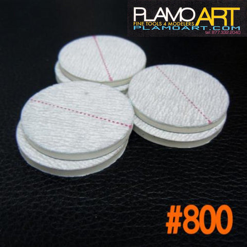 Mini Sand Stick Circle #800 (6 pcs)  PLAMO ART