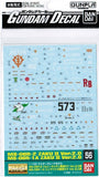 #56 Gundam Decal - Zaku II MS-06R-1A, MS-06R-2 2.0 1/100 MG