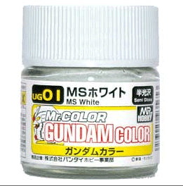 Mr. Color UG01 MS White (Semi Gloss) Paint Mr. Gundam Color 10ml