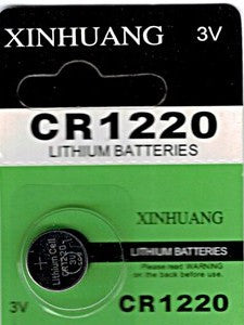 CR1220 Lithium Battery for LED System (2 PCS)
