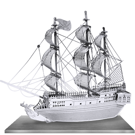 Black Pearl 3D Laser Cut Model